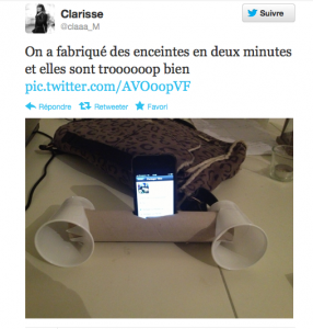 copie d'écran d'un tweet
