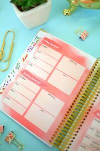exemple de planner repas et exercice physique avec Blogilates